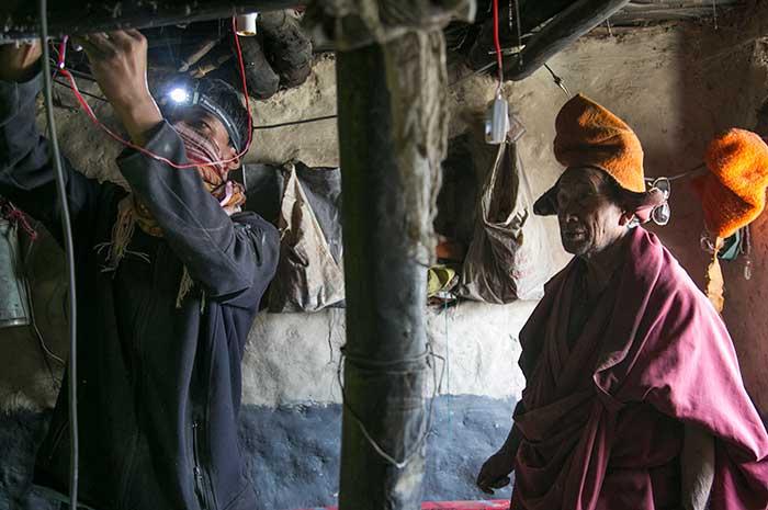 Lighting Up Phugtal Monastery