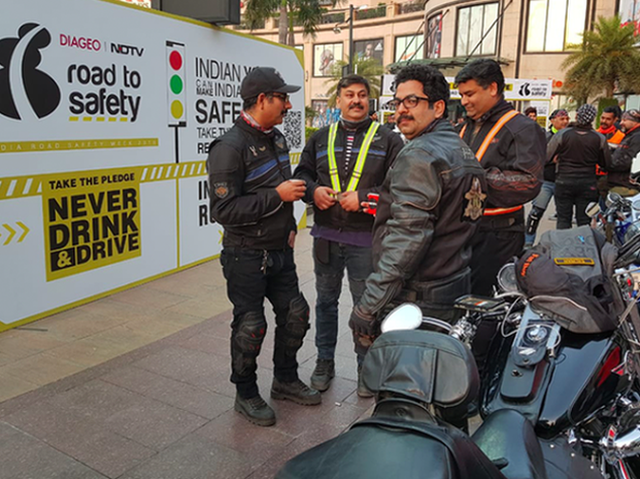 Over 100 Motorcyclists Come Together To Celebrate Road Safety Week In Delhi