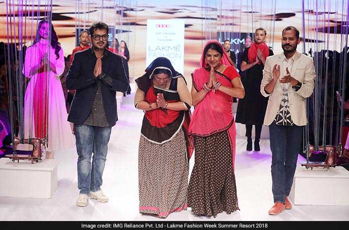 USHA Silai School Women At Lakme Fashion Week With Designers Amit Vijaya And Richard Pandav