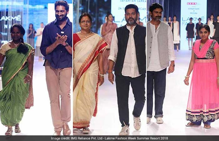 Silai School Women At Lakme Fashion Week 2018 With Their Mentors