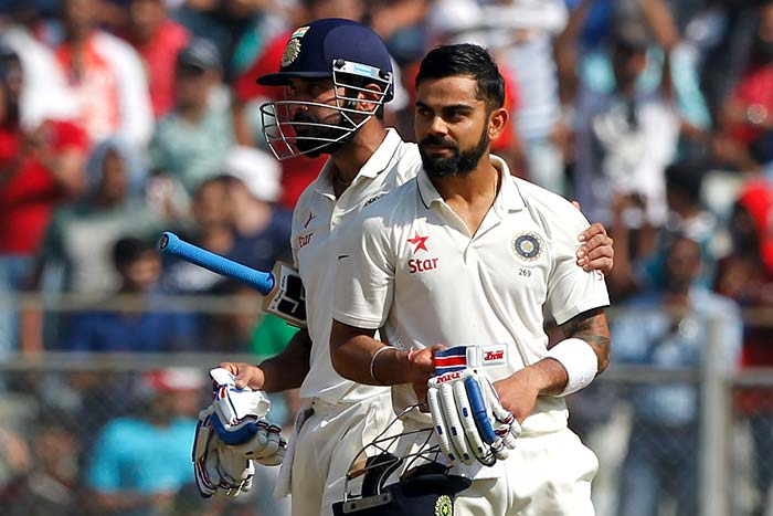 4th Test, Day 3: Murali Vijay, Virat Kohli Star as India Take Lead in Mumbai