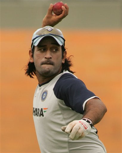 Warming up for 2nd Test
