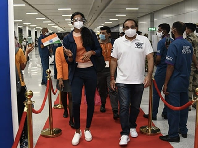 Photo : Tokyo Olympics: Indian Athletes Depart For The Games After A Resounding Send-Off Ceremony