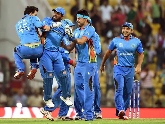 Photo : टी20 कप: अफगानिस्तान ने किया उलटफेर, इंडीज को किया ढेर