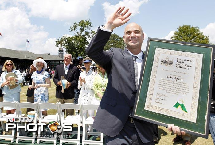 Andre Agassi inducted to Hall of Fame