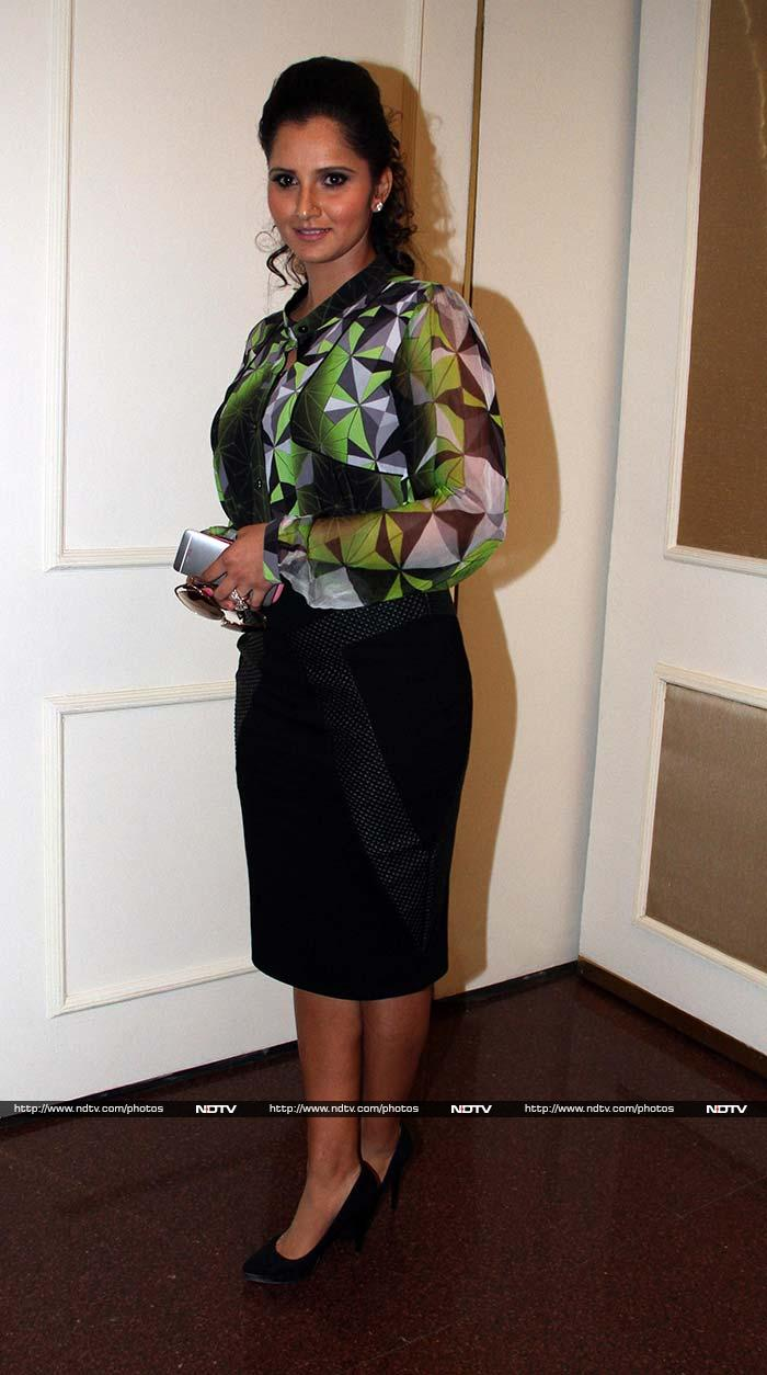 Sania Mirza at event to honour Sachin Tendulkar