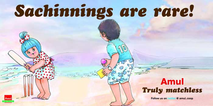 Amul's tribute to Sachin, over the years