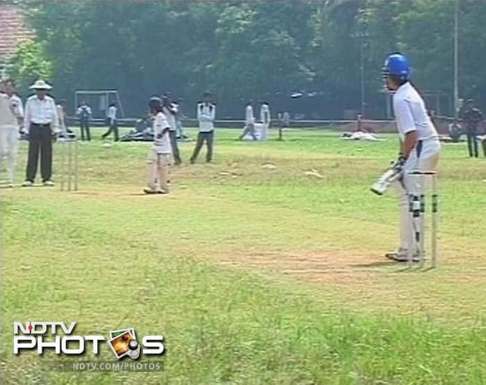 Junior Tendulkar stars for his school team