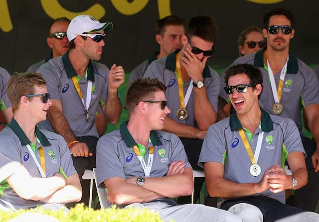 World Champions Aussies Celebrate With Fans at Federation Square