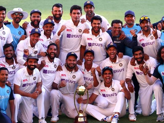 Photo : ब्रिसबेन टेस्ट में जीत के साथ भारत ने रचा इतिहास, सीरीज पर 2-1 से किया कब्जा