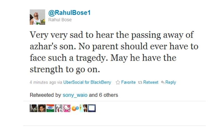 On Twitter, many grieve for Azhar's young son