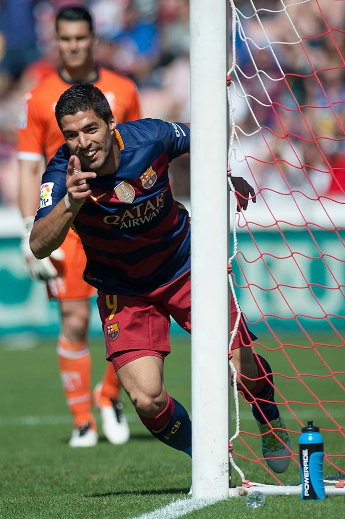 Luis Suarez Hat-Trick Takes Barcelona to La Liga Title