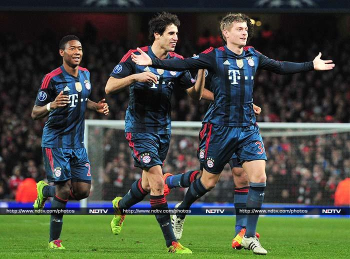 Champions League: Bayern Munich go past Arsenal at Emirates