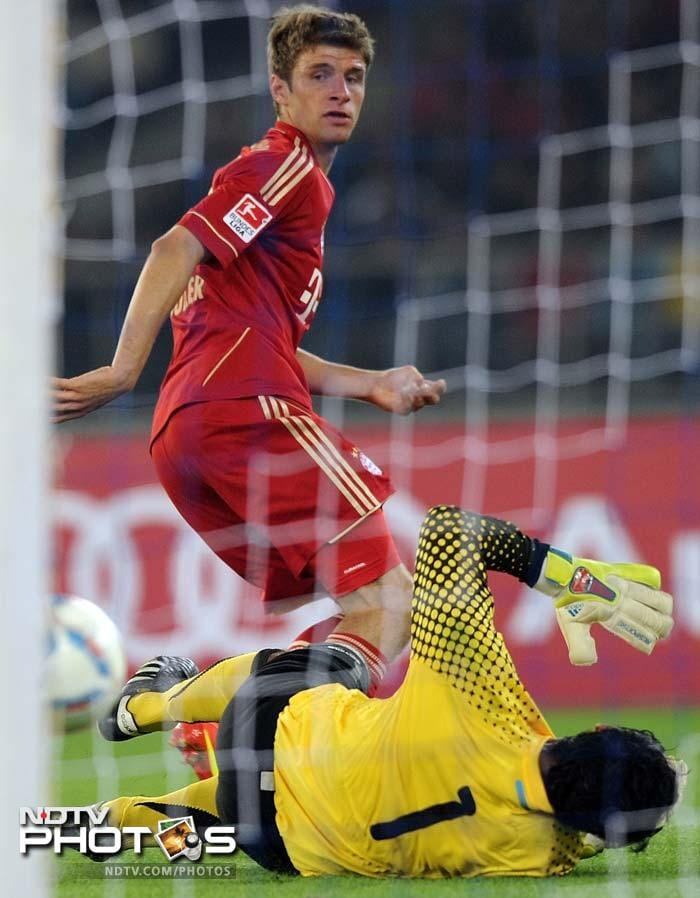 India fights for Bhutia but Bayern win 4-0