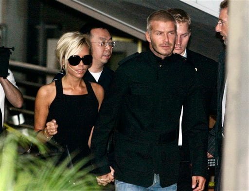 Beckhams arrive in LA