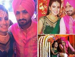 Photo : Harbhajan Singh, Geeta Basra Tie the Knot