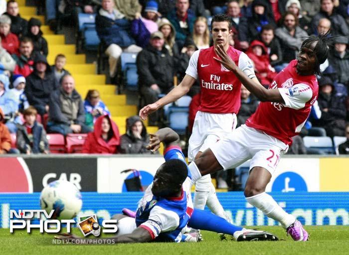 Blackburn taste first win; down Arsenal
