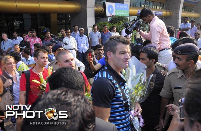 Blackburn Rovers arrive in India