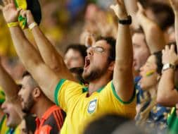 Photo : Brazil Fans Celebrate Entry Into FIFA World Cup Quarters