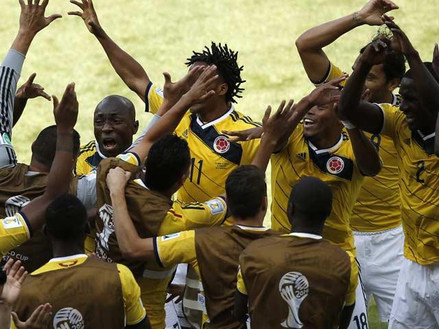 Photo : FIFA World Cup 2014: Colombia Thrash Greece 3-0