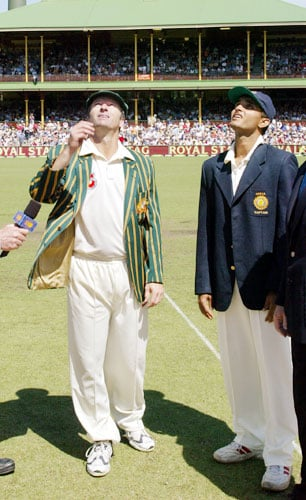 Ganguly getting on Waugh's nerves