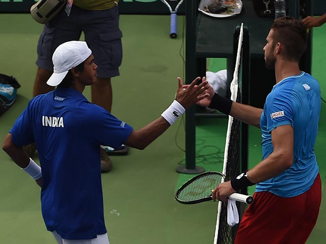 Photo : Davis Cup: Somdev Devvarman Pulls Off Stunning Victory