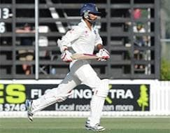 Photo : 1st Test, Day 3: Dhawan, Pujara steady India's pursuit of 407