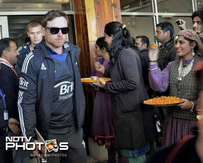 Dharamsala ODI: 'Cold' reception for players!