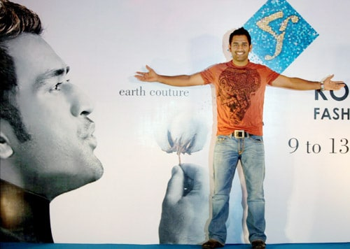 Dhoni's fashion statement