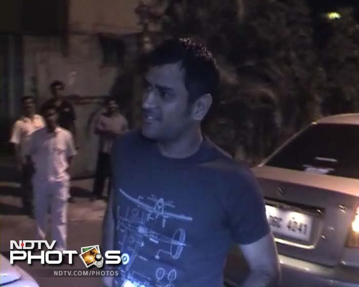 Dhoni at his in-laws' home in Kolkata