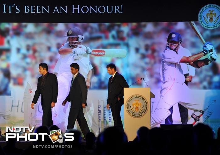 Rahul Dravid Felicitated by Karnataka State Cricket Association