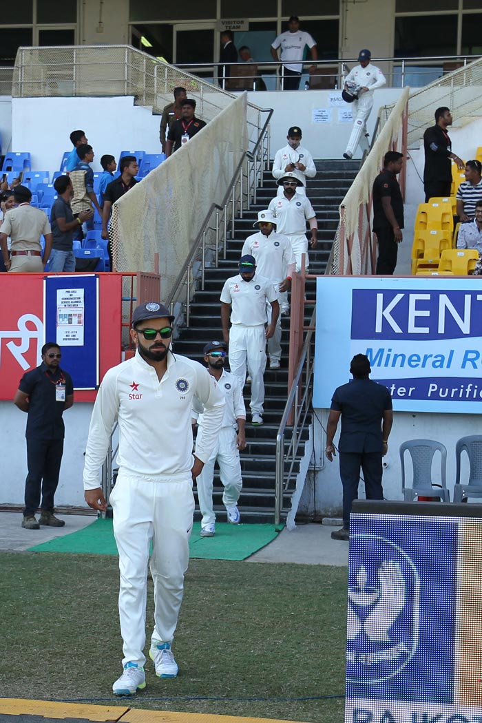 Virat Kohli Helps India Save Rajkot Test