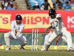 Photo : Virat Kohli Helps India Save Rajkot Test