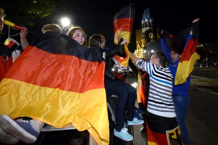 FIFA World Cup: German Fans Party the Night their Team Conquered the World