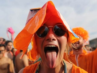 FIFA World Cup: Dutch Fans Paint Brazil Orange