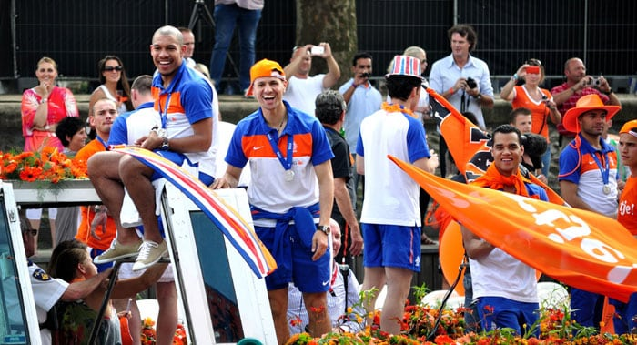 Dutch celebrate World Cup team