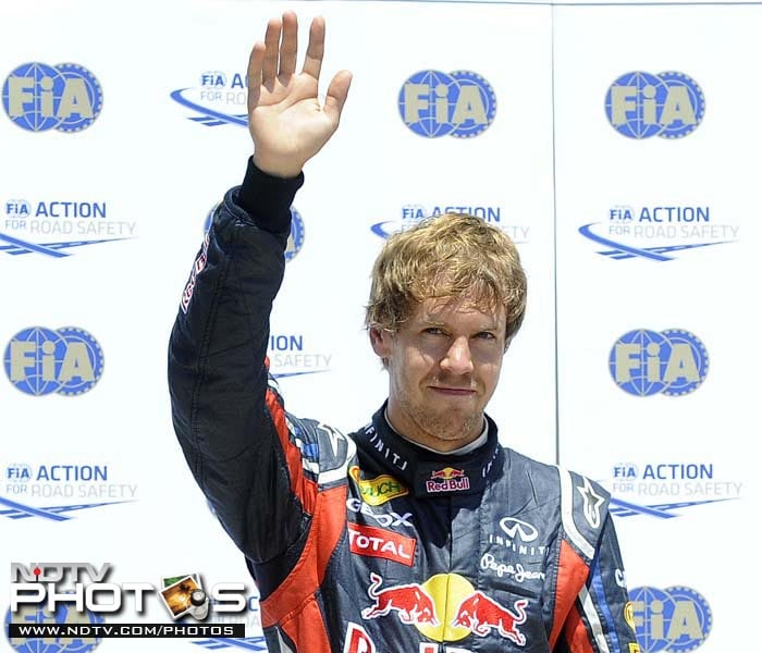 Vettel on pole at European Grand Prix