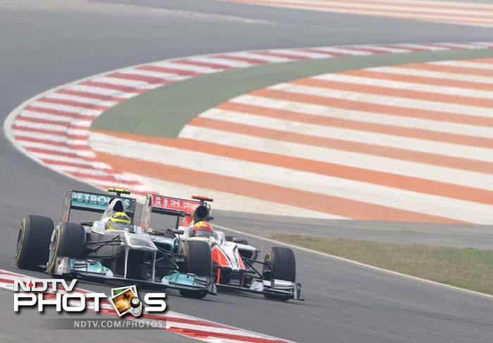 Day 1 action from the Indian GP