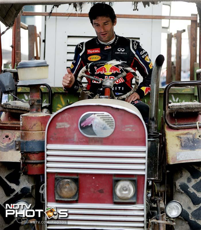 F1 drivers go the desi way!