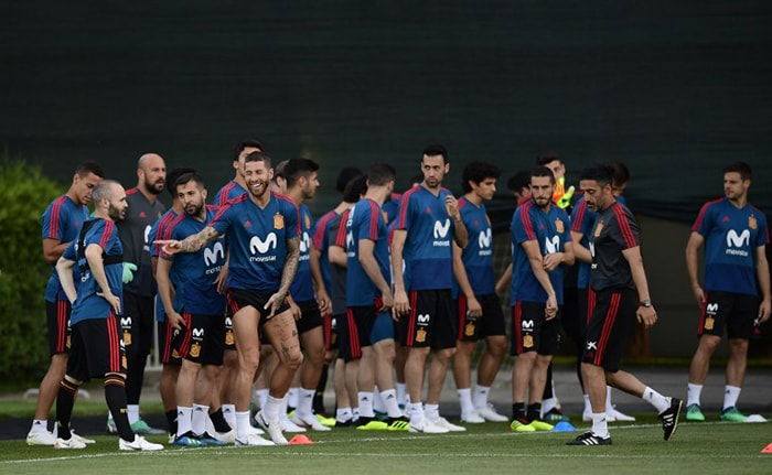 134f72a2a Teams Gear Up For The FIFA World Cup 2018. Spain s defender Sergio Ramos ...