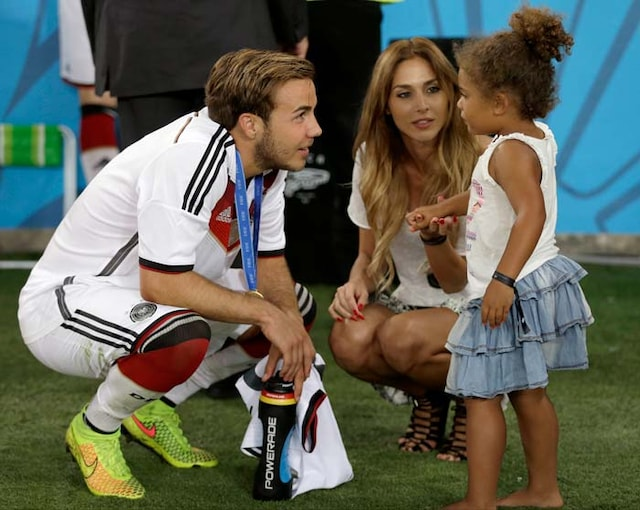 Mario Goetze and his Super Model Girlfriend Bask in World Cup Glory