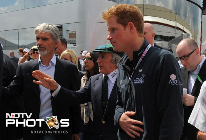 Prince Harry at British Grand Prix