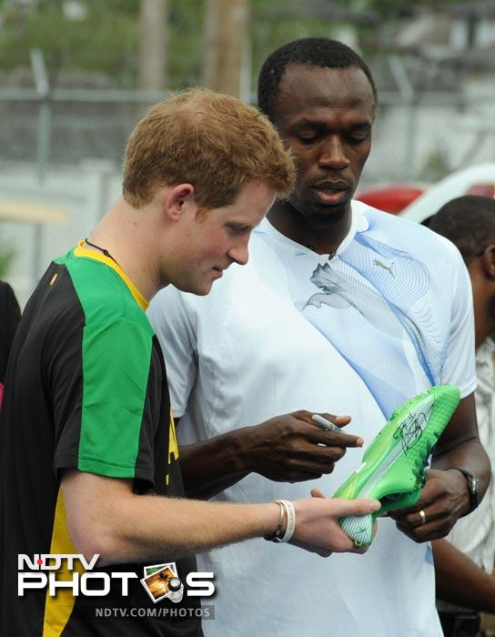 When Prince Harry outraced Usain Bolt