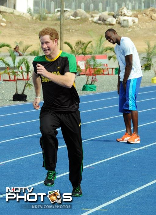 When Prince Harry 'outraced' Usain Bolt