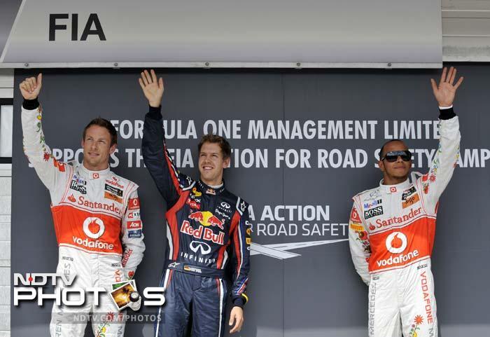 Vettel back on pole in Hungary
