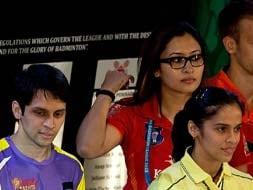 Photo : Indian Badminton League 2013: Pune Pistons beat Delhi Smashers