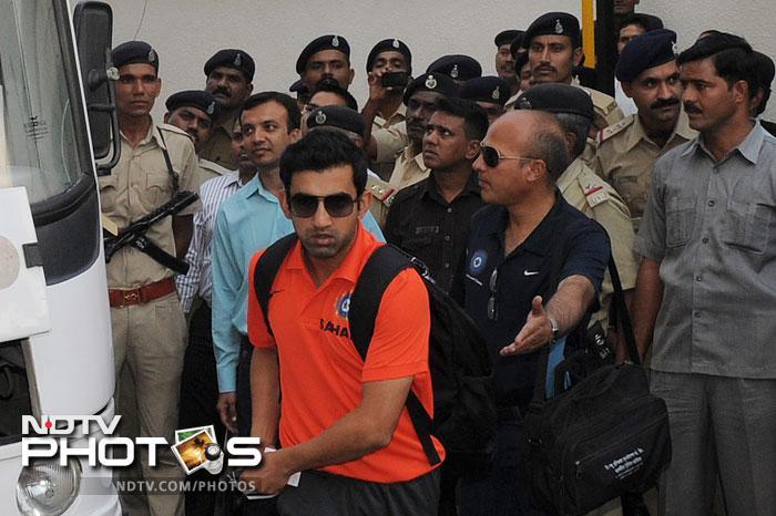 Team India arrives in Ahmedabad