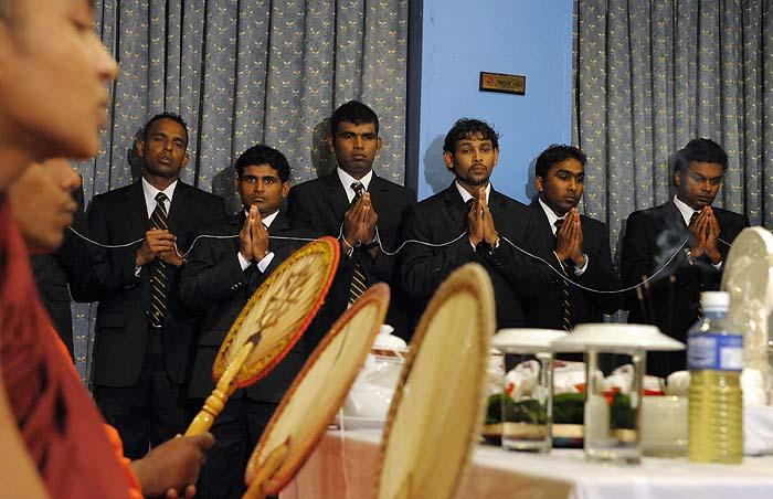 Sri Lanka's arrival in Mumbai