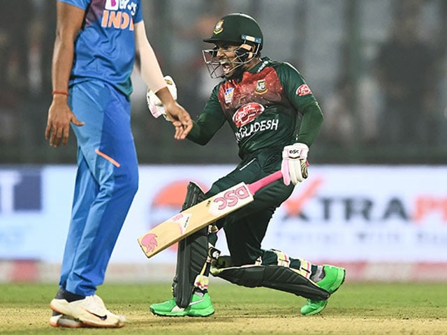 1st T20I: Mushfiqur Rahim Fifty Helps Bangladesh Beat India By 7 Wickets