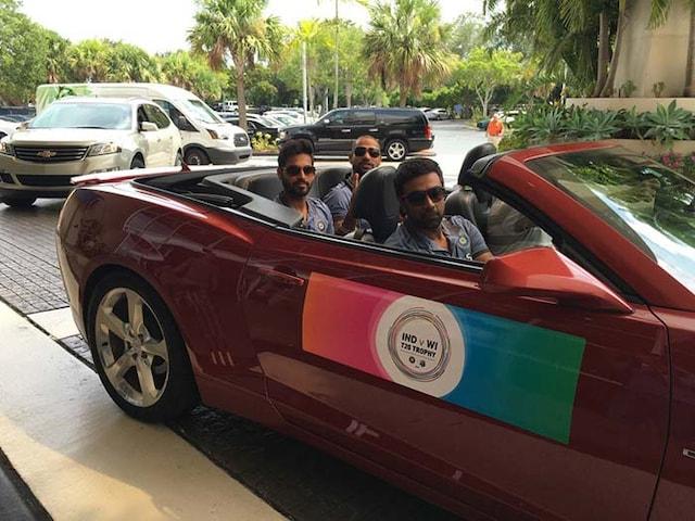 Ravichandran Ashwin, Bhuvneshwar Kumar, Shikhar Dhawan Visit Home Of Miami Heat
